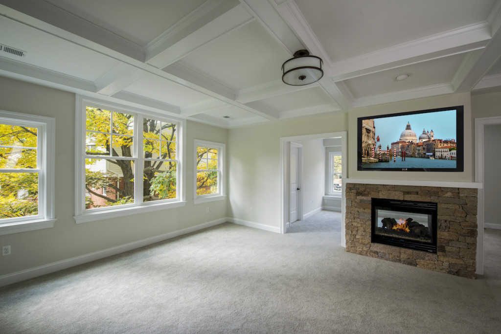 Spacious Master Bedroom with 2-Way Fireplace